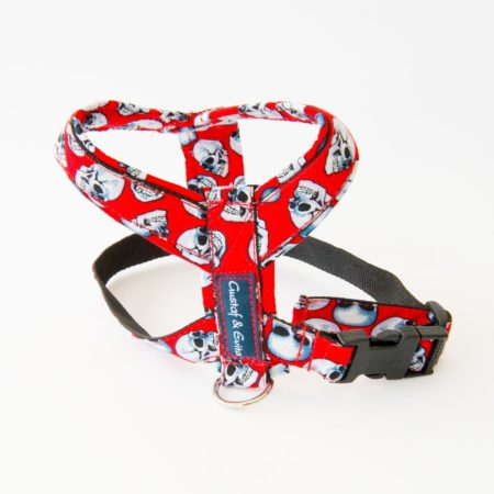 G&E HARNESS PRO RED SKULL