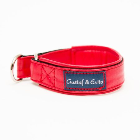 G&E HALF-CHOKE RED LEATHER