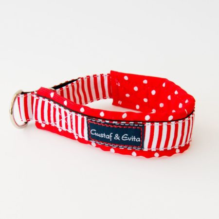 G&E HALF-CHOKE RED NAVY DOTS