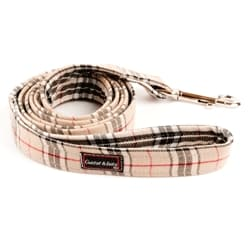 G&E LEASH 15mm BEIGE SQUARE 180cm