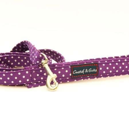 G&E LEASH CAT PURPLE DOTS 180cm