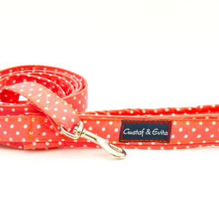 G&E LEASH CAT ORANGE DOTS 180cm