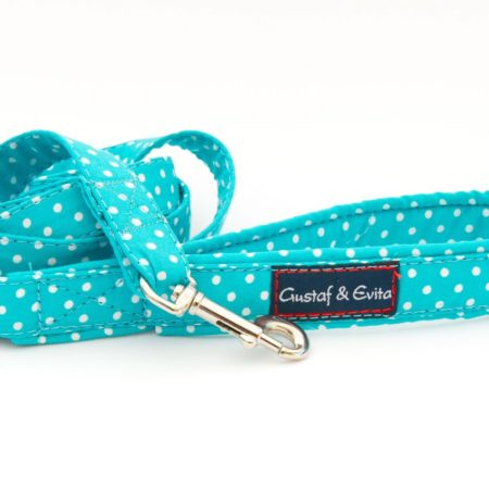 G&E LEASH CAT TURQUOISE DOTS 180cm