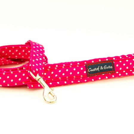 G&E LEASH CAT CERISE DOTS 180cm