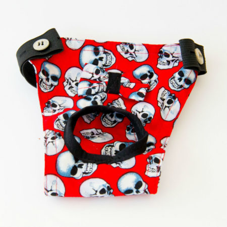 G&E FEMALE DOG PANTIE RED SKULL