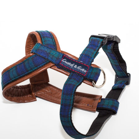 G&E HARNESS PRO BLUE SQUARE LEATHER