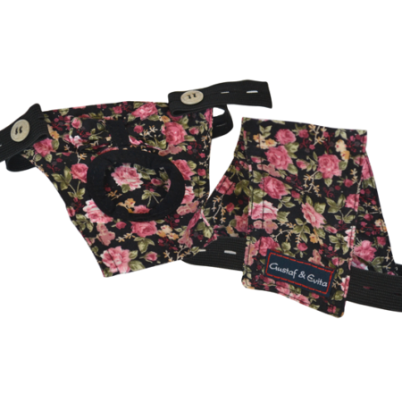 G&E FEMALE DOG PANTIE BLACK ROSE
