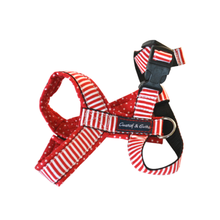 G&E PRO HARNESS RED NAVY DOT