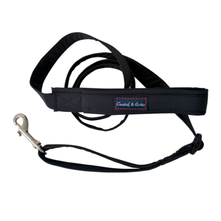 G&E LEASH TEXTILE BLACK 24/7
