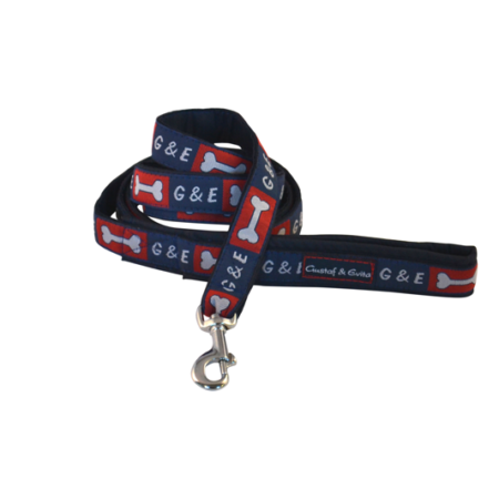 G&E LEASH BLUE BONES