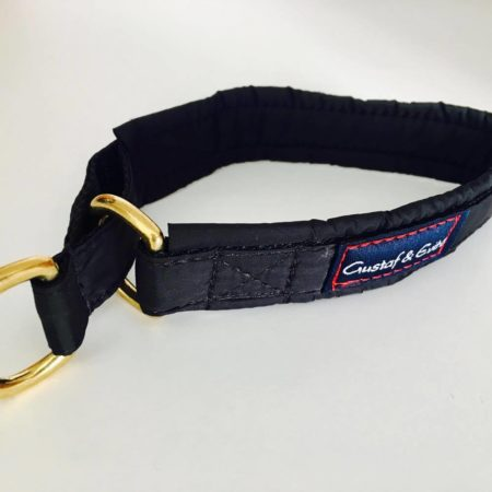 G&E HALF-CHOKE BLACK TEXTILE WITH BRASS