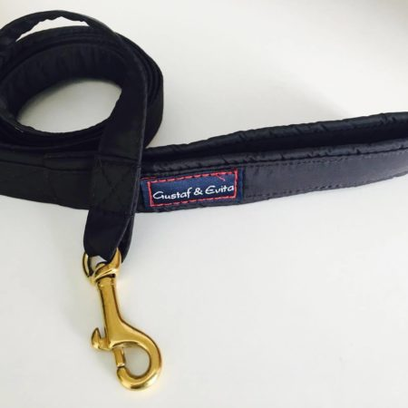 G&E LEASH BLACK WITH BRASS