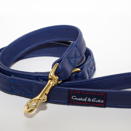 G&E LEASH LEATHER ROYAL BLUE