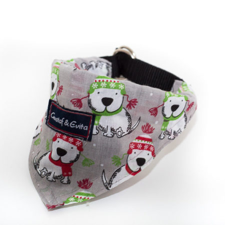 G&E BANDANA DOG GREY