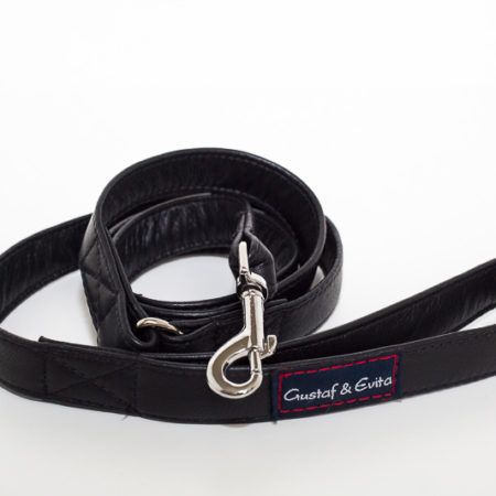 G&E LEASH LEATHER BLACK