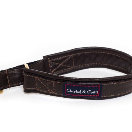 G&E LEASH LEATHER BROWN/BRASS