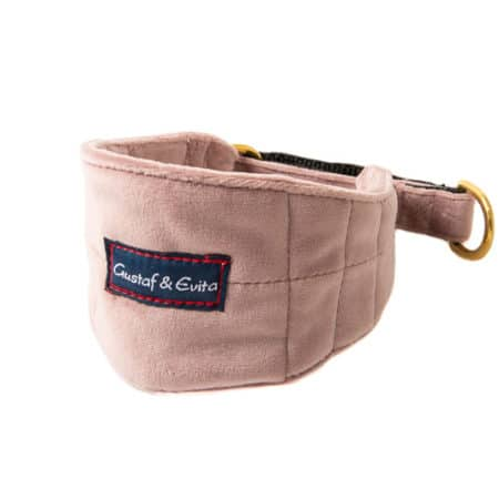 G&E HALF-CHOKE GREYHOUND VELVET OLD PINK