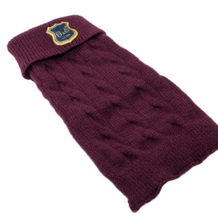 G&E KNITTED BURGUNDY