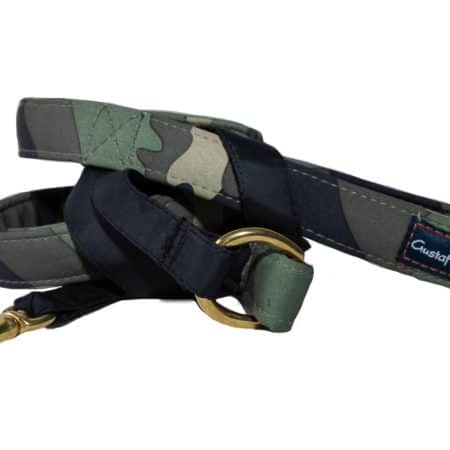 G&E LEASH CAMO & BRASS