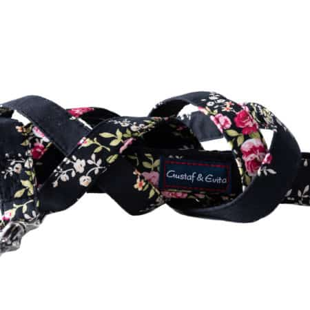 G&E LEASH BLACK ROSE